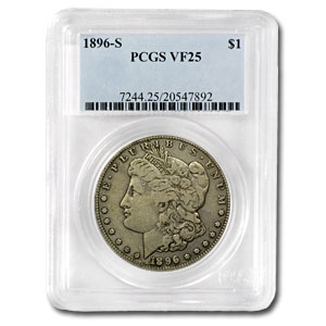 1896-S Morgan Dollar VF-25 PCGS